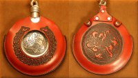 Flask Pouch Epona (Horse) in Red
