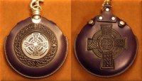 Flask Pouch Celtic Cross in Purple