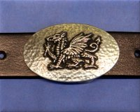 Welsh Dragon Buckle 1 1/8""