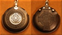 Flask Pouch Celtic Cross in Black