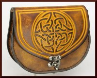 Round Celtic Knot Pouch