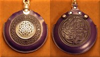 Flask Pouch Celtic Knot in Purple