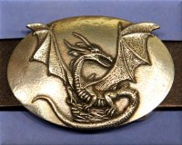 Stone Dragon Buckle 1 1/2""