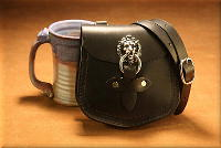 Lion's Head Shoulder Bag Black