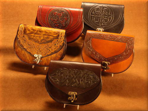 Round Tooled Pouch