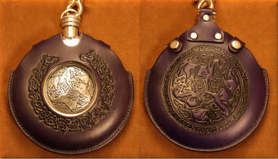 Flask Pouch Epona (Horse) in Purple
