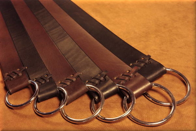 Ring Belts in Bridle Leather